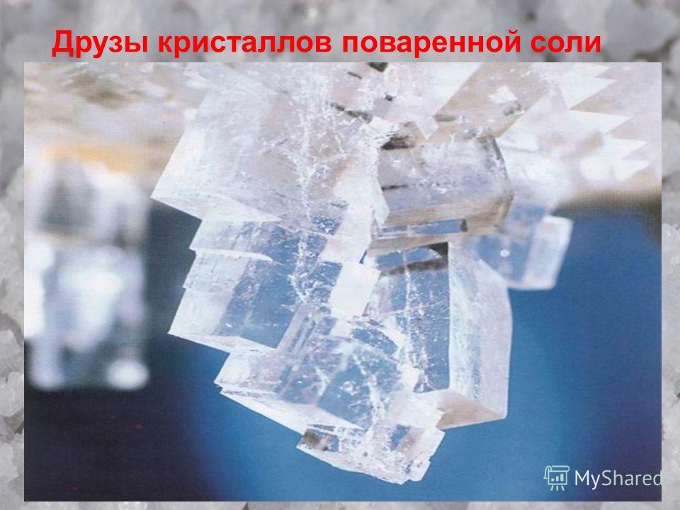 Друзы кристаллов поваренной соли