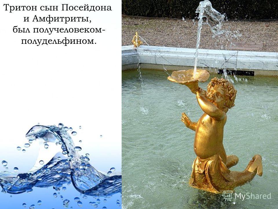 Page 7 Тритон сын Посейдона и Амфитриты, был получеловеком- полудельфином.