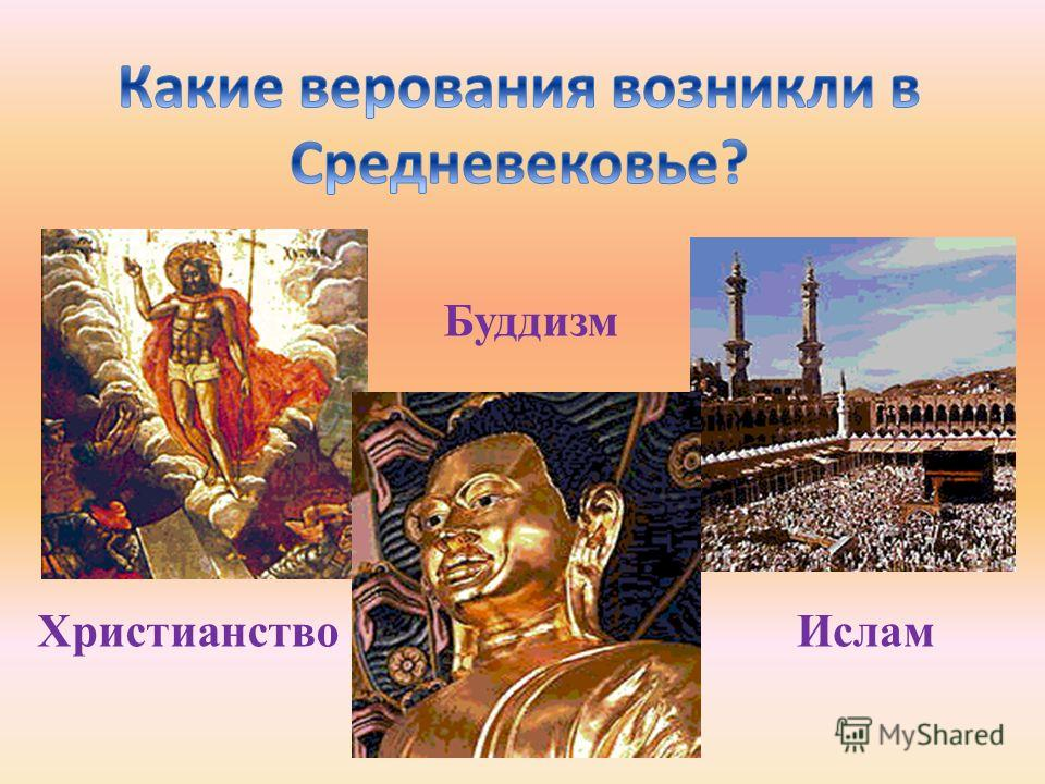 ХристианствоИслам Буддизм
