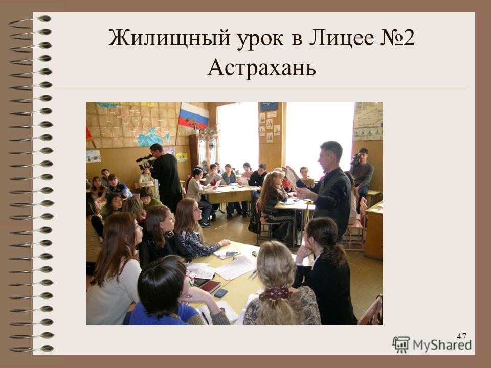 Жилищный урок в Лицее 2 Астрахань 47