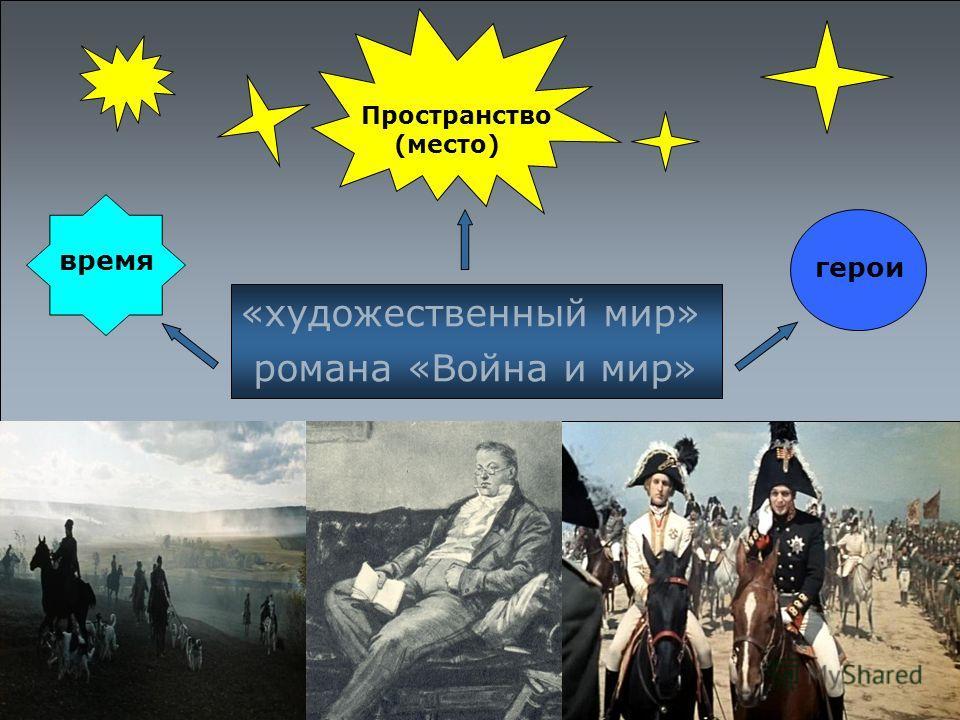 «художественный мир» романа «Война и мир» время герои Пространство (место)