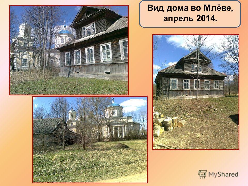 Вид дома во Млёве, апрель 2014.