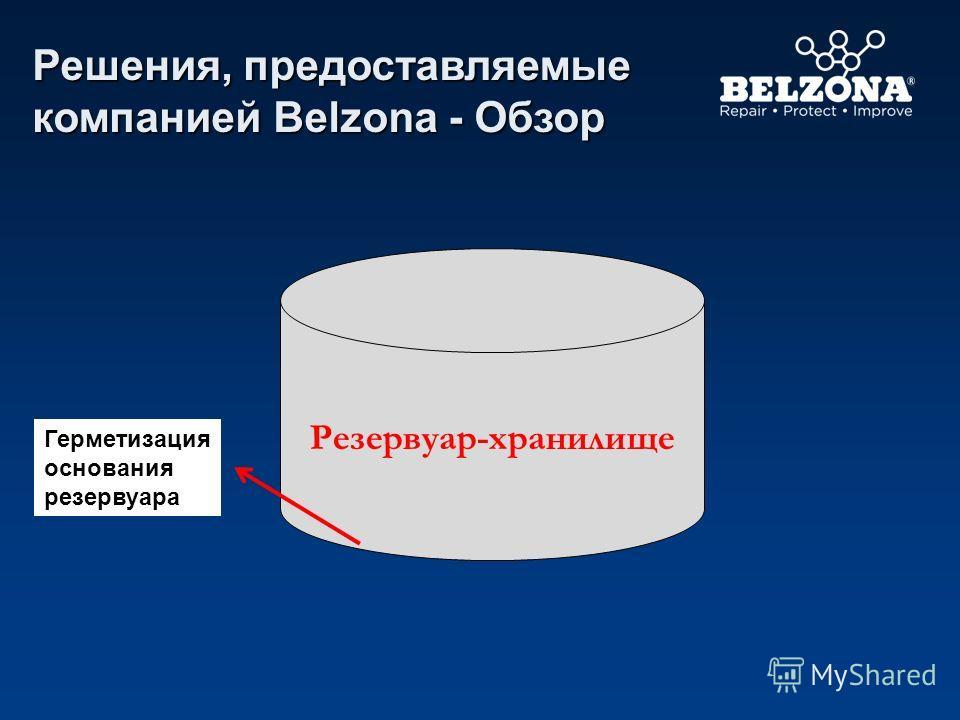 Резервуар-хранилище Решения, предоставляемые компанией Belzona - Обзор Герметизация основания резервуара