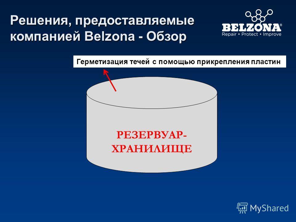 РЕЗЕРВУАР- ХРАНИЛИЩЕ Герметизация течей с помощью прикрепления пластин Решения, предоставляемые компанией Belzona - Обзор