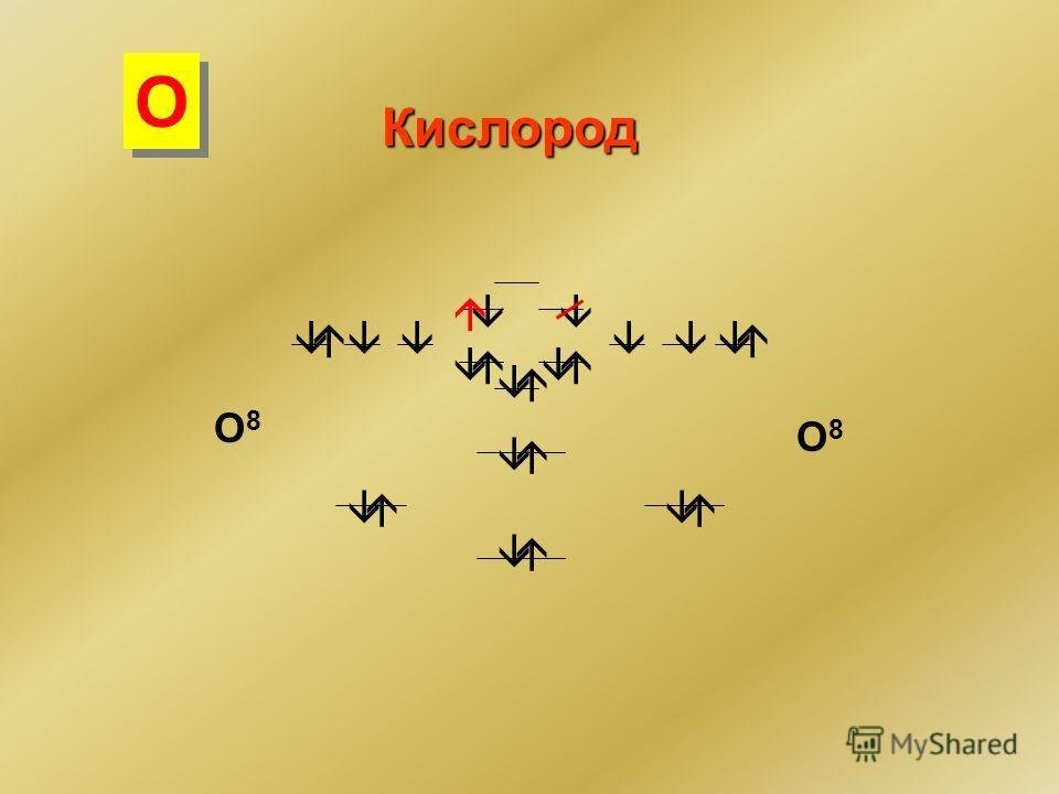 Кислород O8O8 O8O8 О О