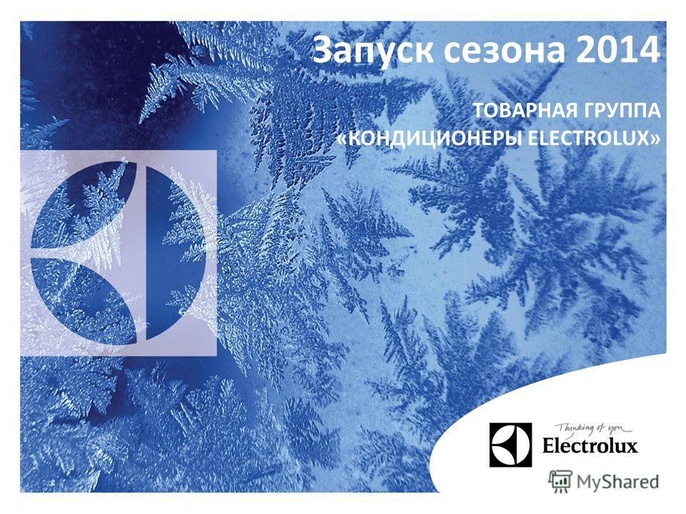 Запуск сезона 2014 ТОВАРНАЯ ГРУППА «КОНДИЦИОНЕРЫ ELECTROLUX»