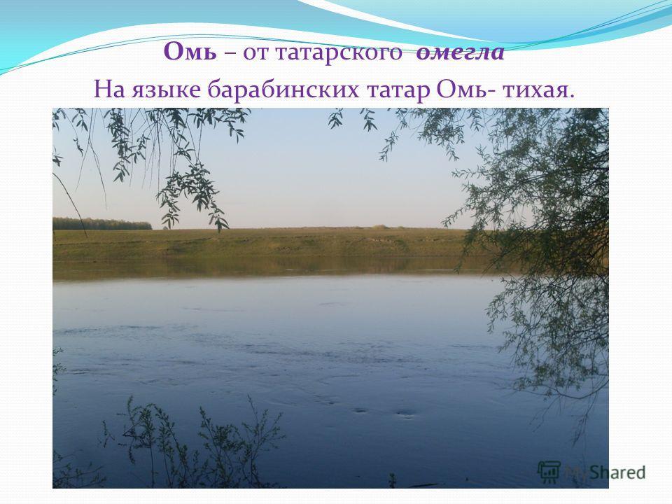 Омь – от татарского омегла На языке барабинских татар Омь- тихая.
