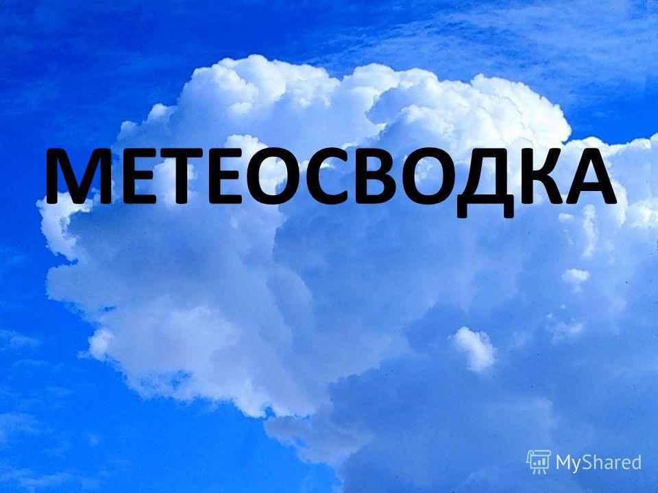 МЕТЕОСВОДКА