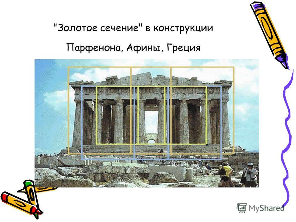 Золотое сечение в конструкции Парфенона, Афины, Греция