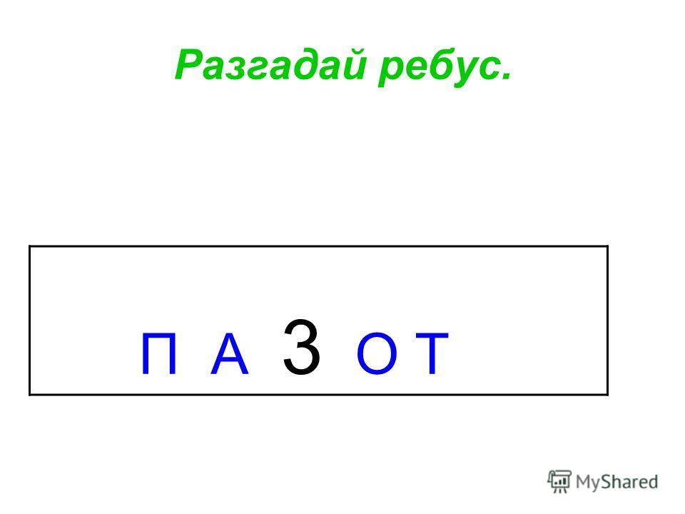 П А 3 О Т Разгадай ребус.
