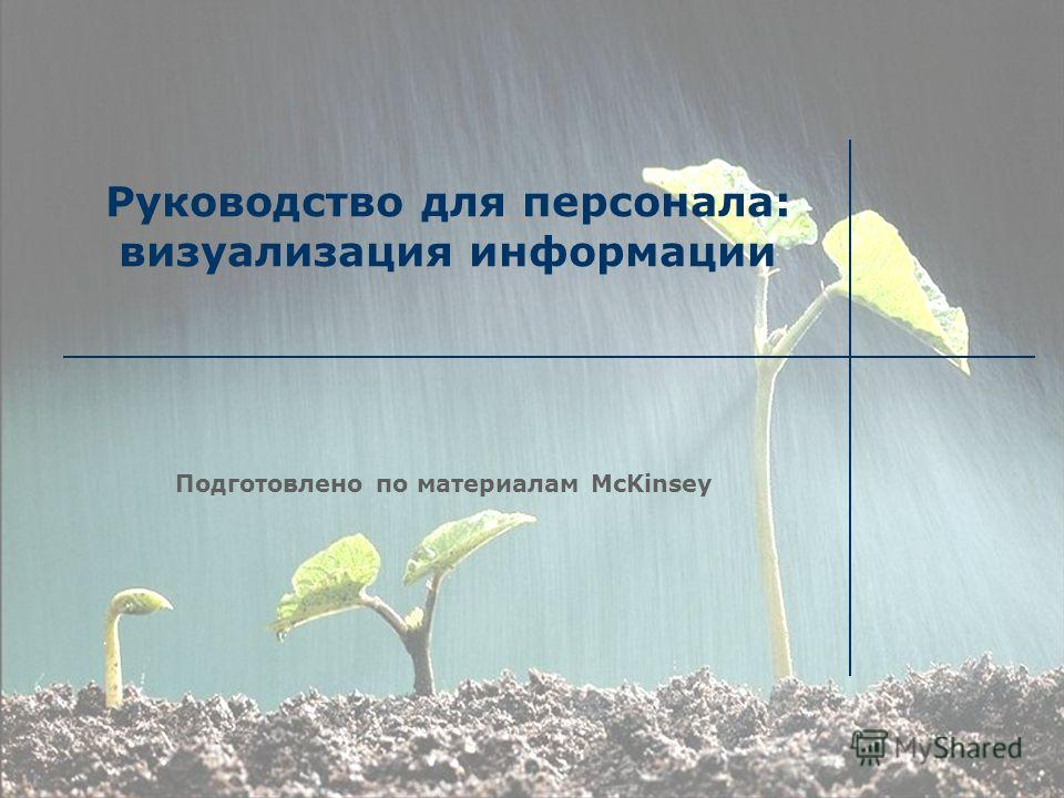 Руководство для персонала: визуализация информации Подготовлено по материалам McKinsey