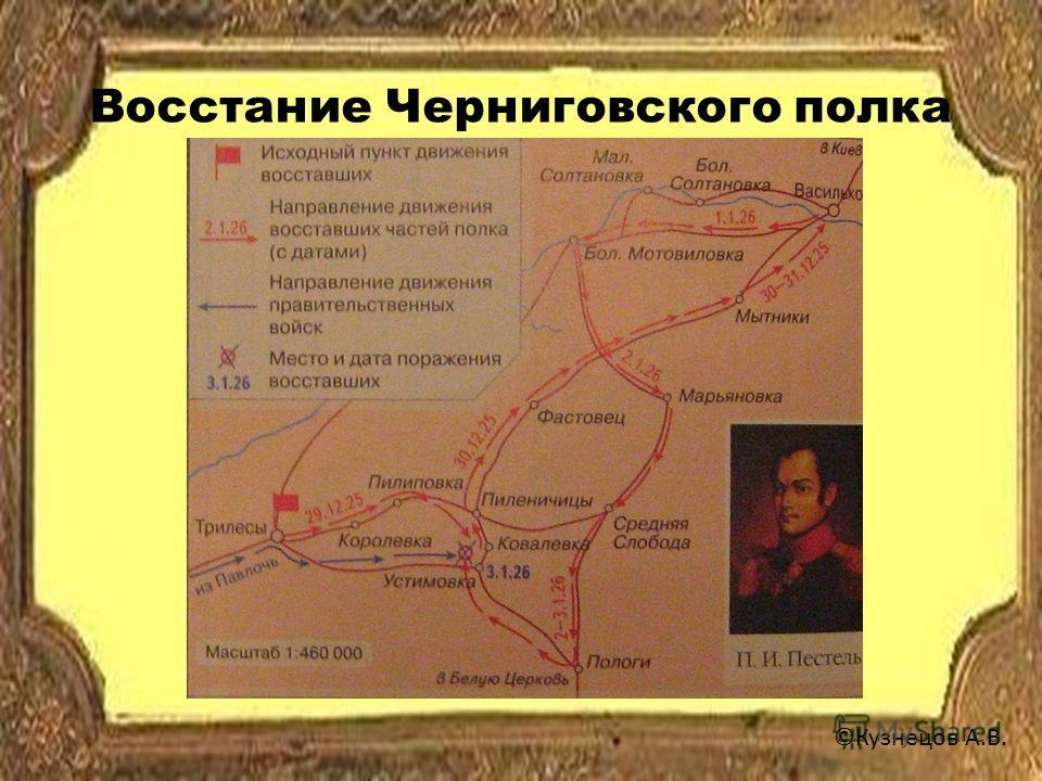 Восстание Черниговского полка ©Кузнецов А.В.