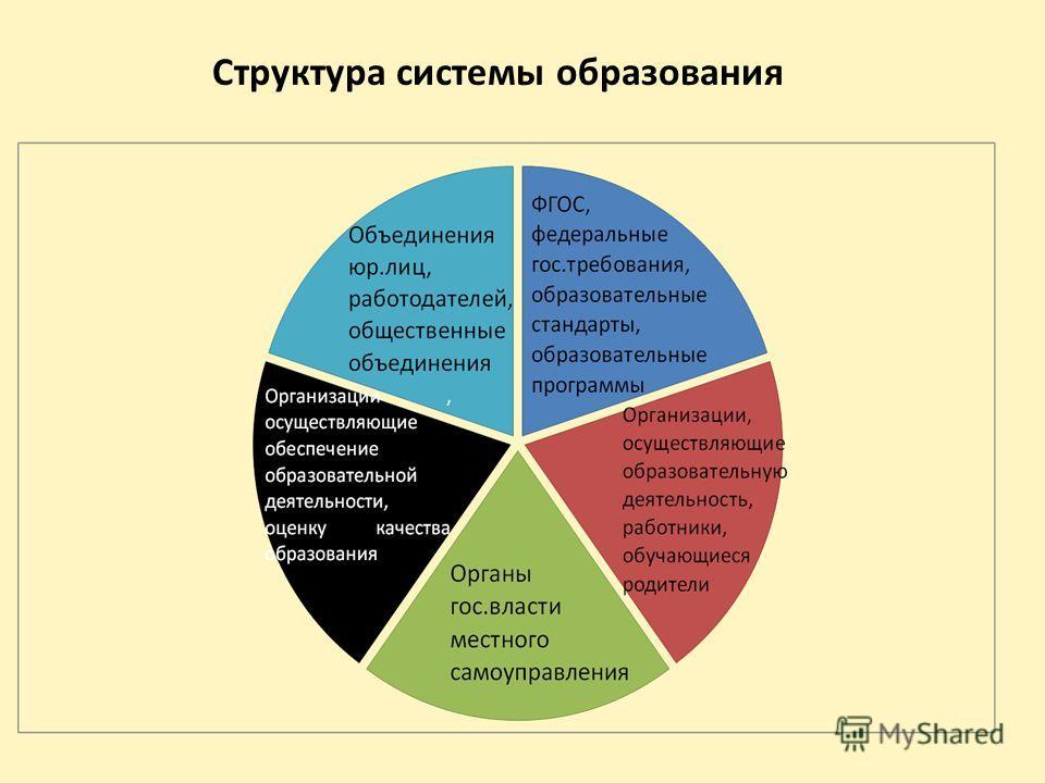 Структура системы образования