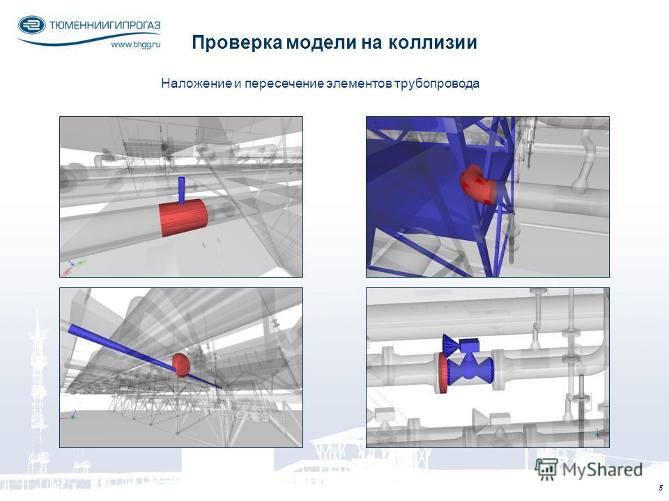 5 Проверка модели на коллизии Наложение и пересечение элементов трубопровода