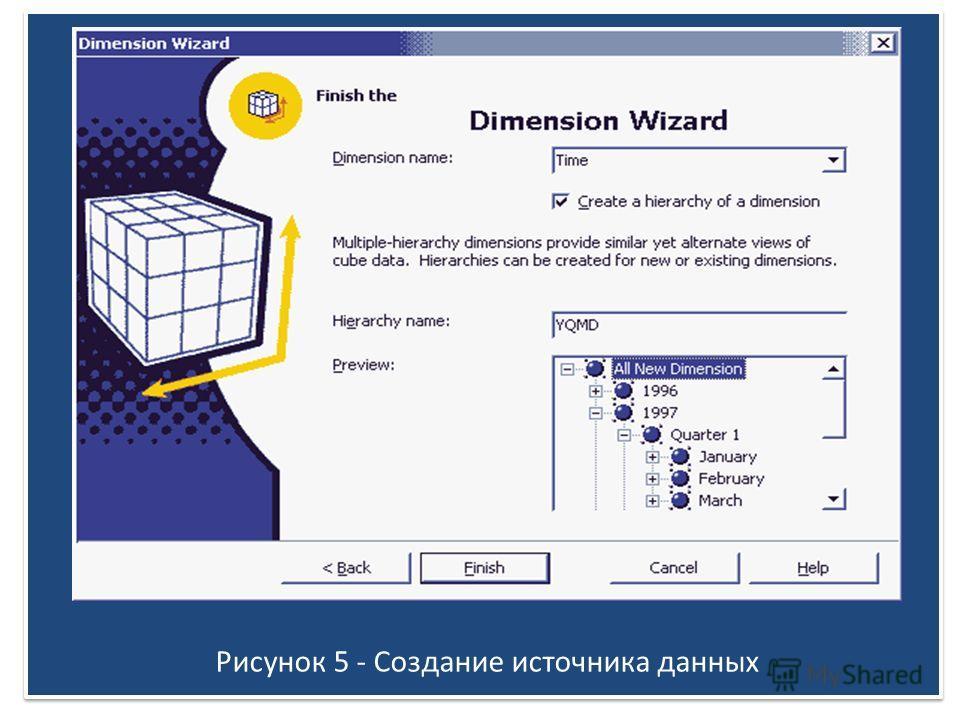 Рисунок 5 - Создание источника данных
