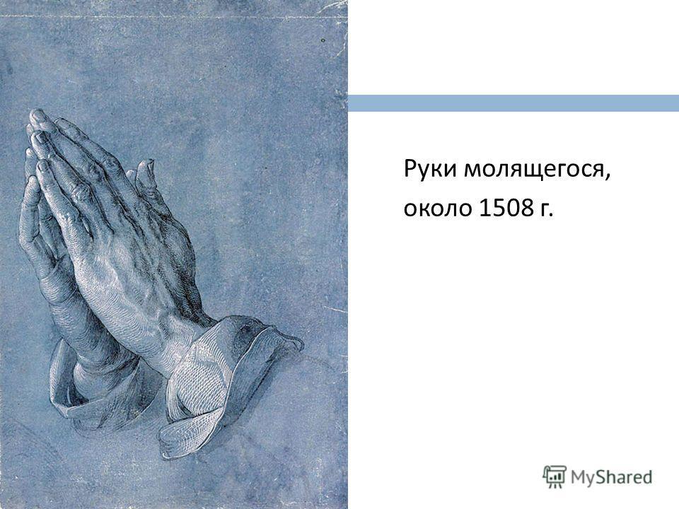 Руки молящегося, около 1508 г.