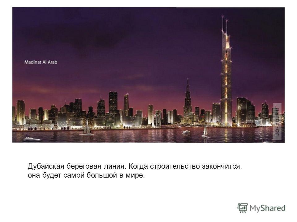 Дубайская береговая линия. Когда строительство закончится, она будет самой большой в мире.