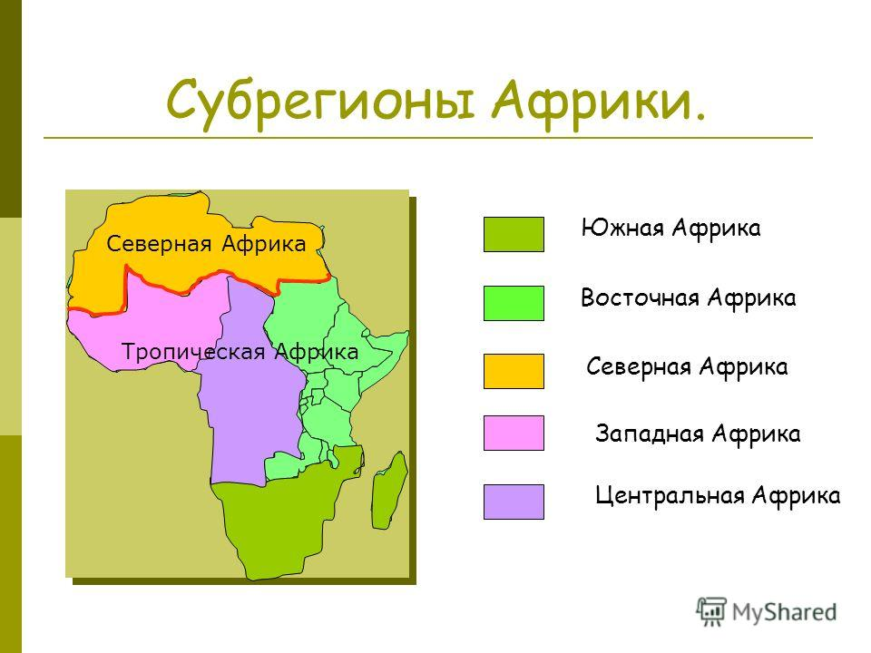 География 11 кл конспект урока деление африки на субрегионы