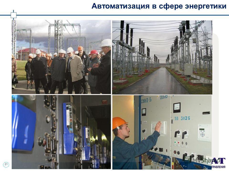 21 Автоматизация в сфере энергетики