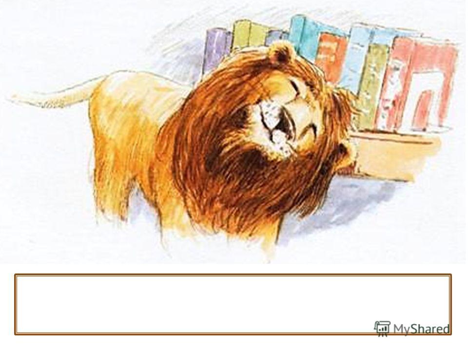 Лев бродил по библиотеке. Он обнюхивал ящики с картотекой.