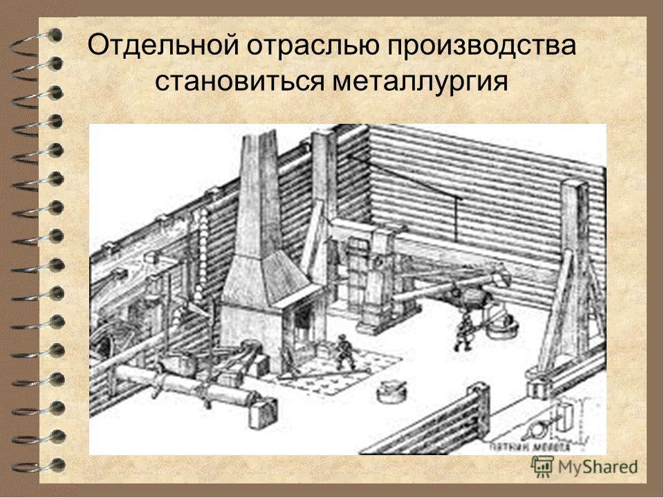 Отдельной отраслью производства становиться металлургия