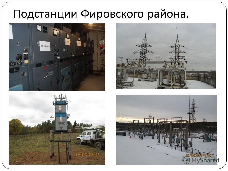 Подстанции Фировского района.