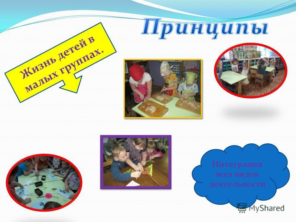 Жизнь детей в малых группах. Интеграция всех видов деятельности