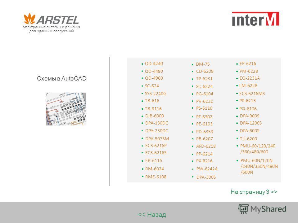 Схемы в AutoCAD > SC-624 SYS-2240G TB-616 TB-9116 QD-4240 QD-4480 QD-4960 DIB-6000 DPA-130DC DPA-230DC DPA-5075M ER-6116 RM-6024 ECS-6216P ECS-6216S RME-6108 электронные системы и решения для зданий и сооружений CD-6208 TP-6231 SC-6224 PG-6104 PV-623