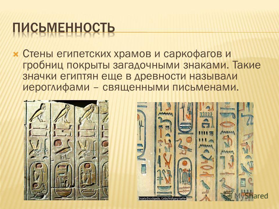 Стены египетских храмов и саркофагов и гробниц покрыты загадочными знаками. Такие значки египтян еще в древности называли иероглифами – священными письменами.