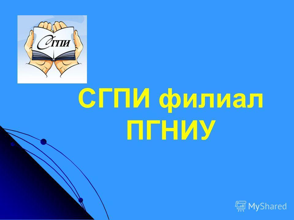 СГПИ филиал ПГНИУ