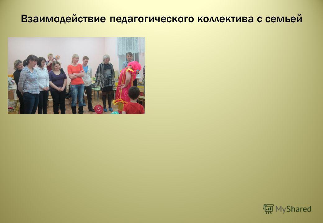 Взаимодействие педагогического коллектива с семьей