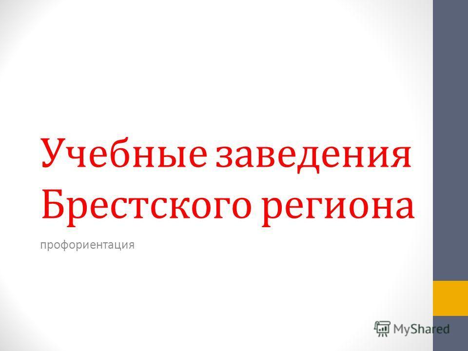 Учебные заведения Брестского региона профориентация