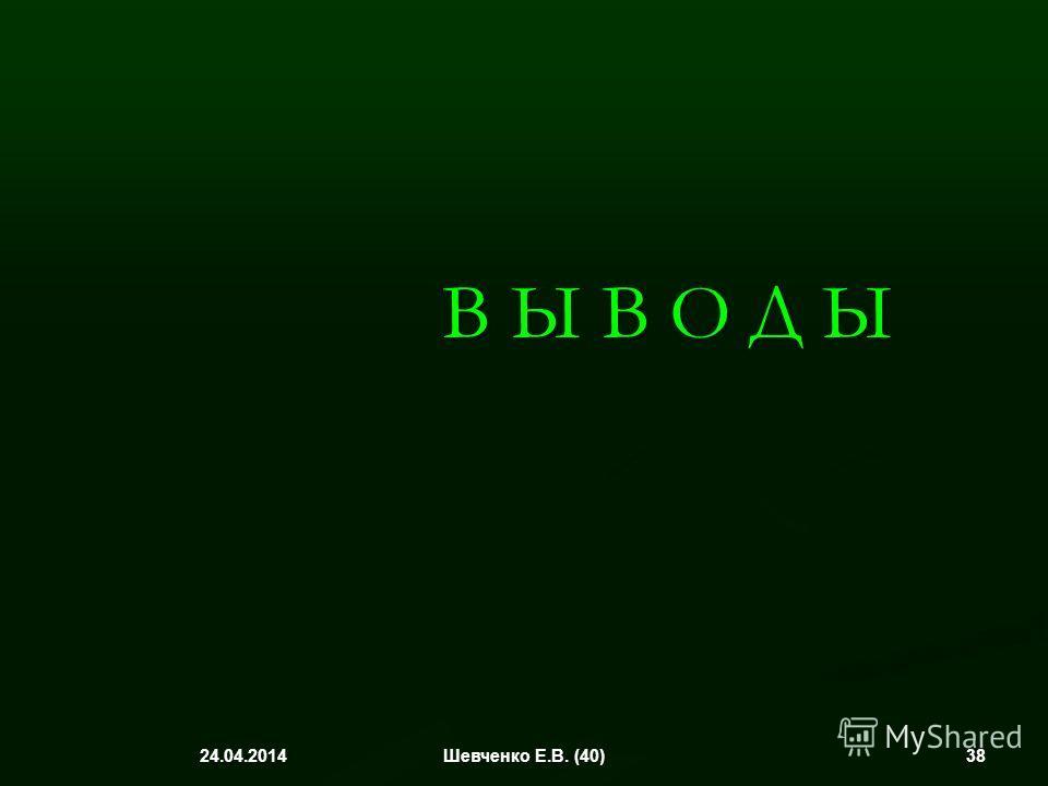 В Ы В О Д Ы 24.04.2014 38Шевченко Е.В. (40)