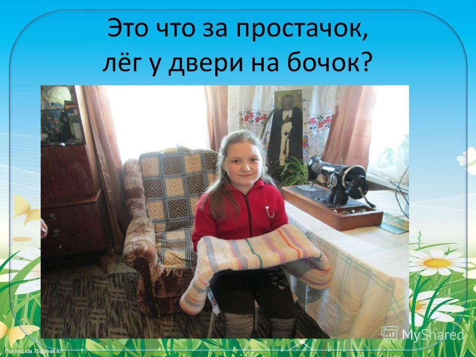 FokinaLida.75@mail.ru Это что за простачок, лёг у двери на бочок?