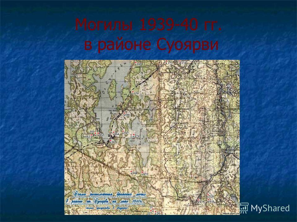 Могилы 1939-40 гг. в районе Суоярви
