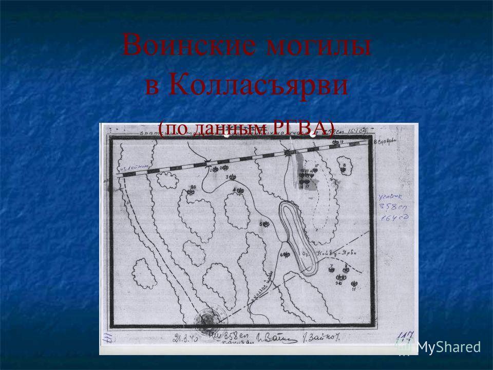 Воинские могилы в Колласъярви (по данным РГВА)