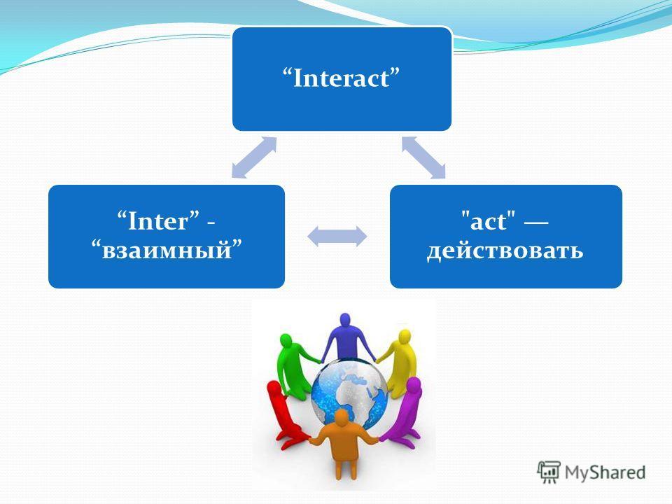 Interact Inter - взаимный act действовать