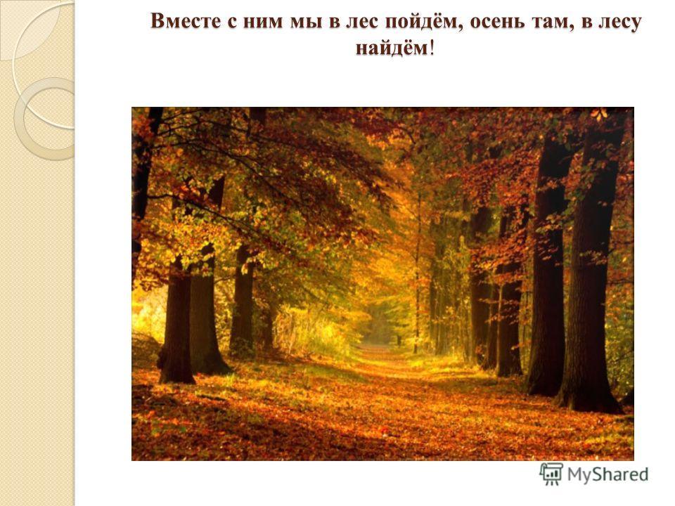 Вместе с ним мы в лес пойдём, осень там, в лесу найдём!