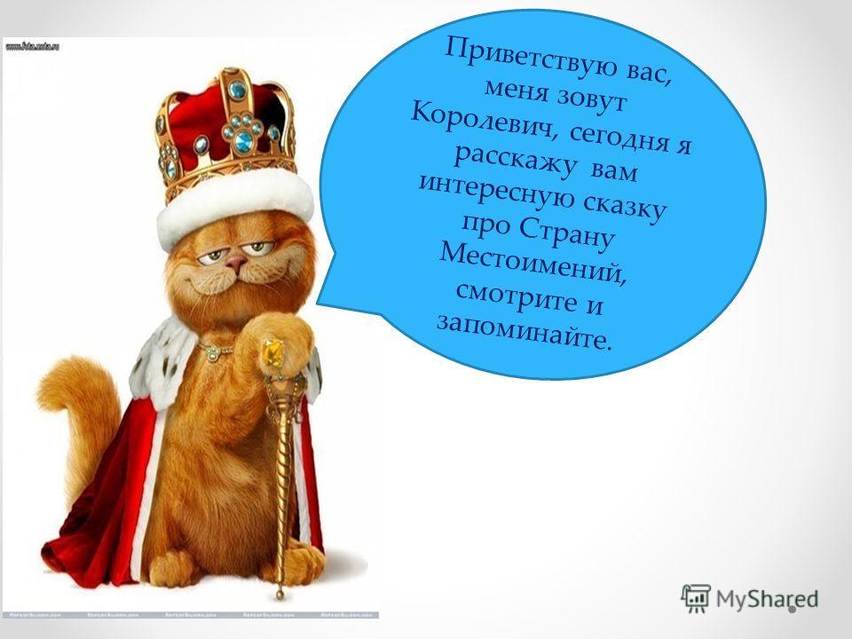 Приветствую вас, меня зовут Королевич, сегодня я расскажу вам интересную сказку про Страну Местоимений, смотрите и запоминайте.