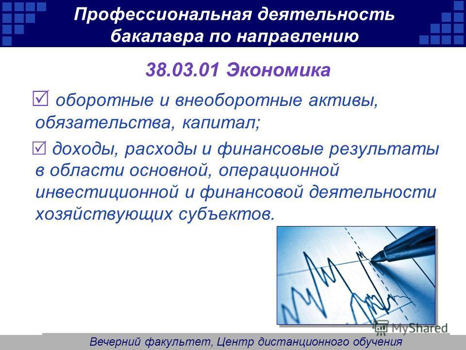 Company Logo Профессиональная деятельность бакалавра по направлению 38.03.01 Экономика оборотные и внеоборотные активы, обязательства, капитал; доходы, расходы и финансовые результаты в области основной, операционной инвестиционной и финансовой деяте