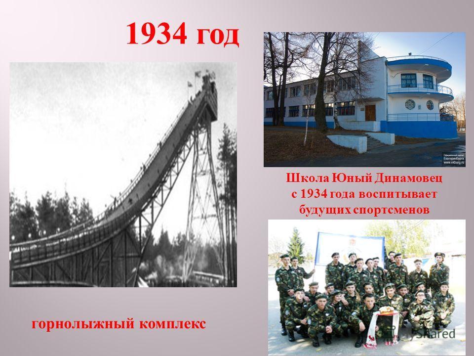 1934 год горнолыжный комплекс Школа Юный Динамовец с 1934 года воспитывает будущих спортсменов