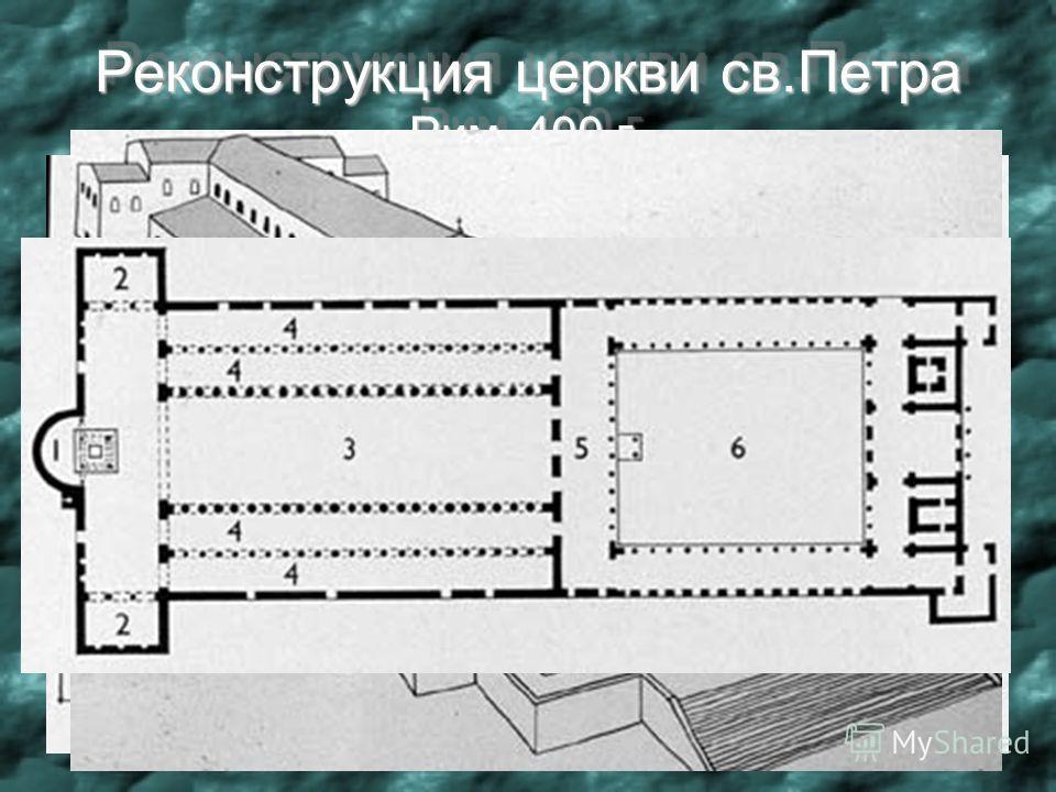 Реконструкция церкви св.Петра Рим. 400 г. Реконструкция церкви св.Петра Рим. 400 г.
