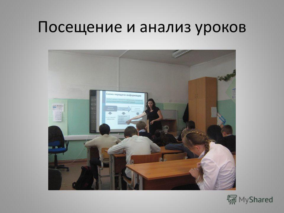 Посещение и анализ уроков
