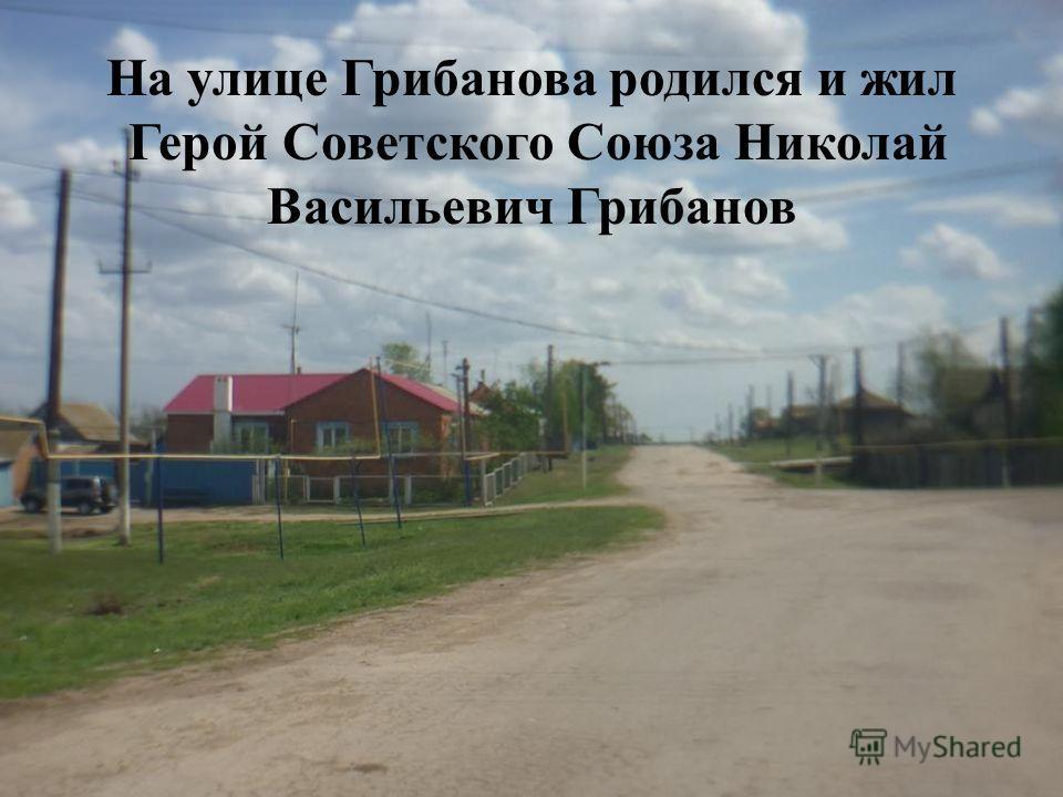 На улице Грибанова родился и жил Герой Советского Союза Николай Васильевич Грибанов