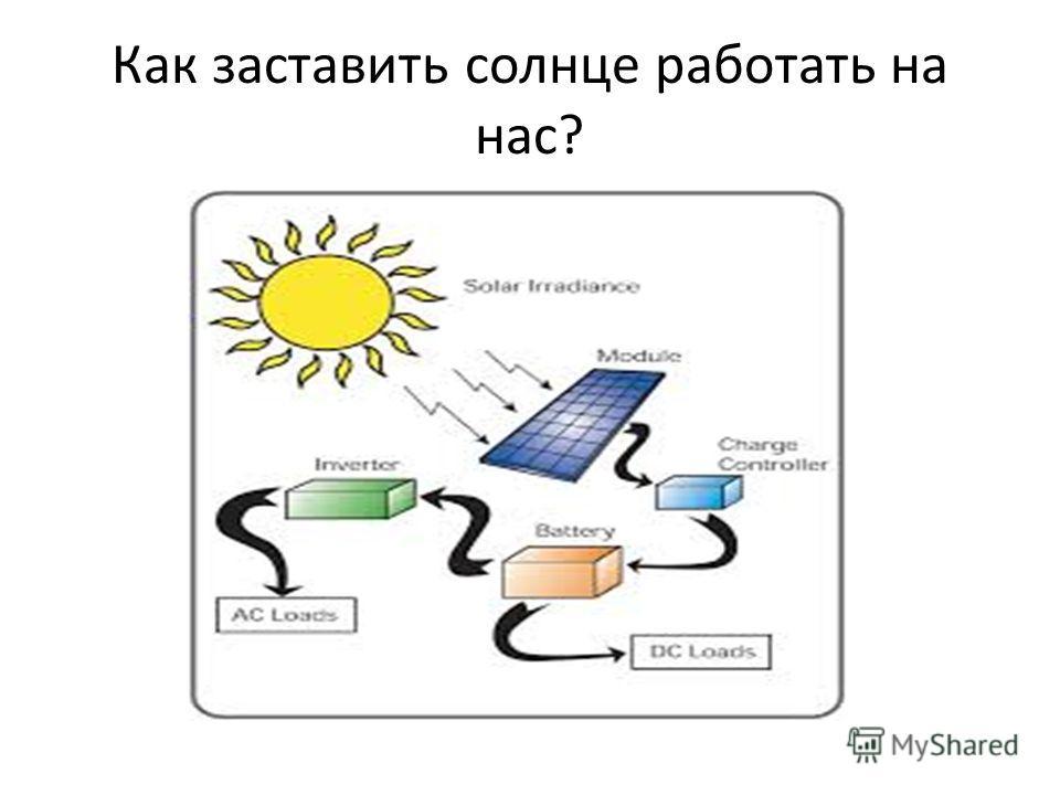 Как заставить солнце работать на нас?
