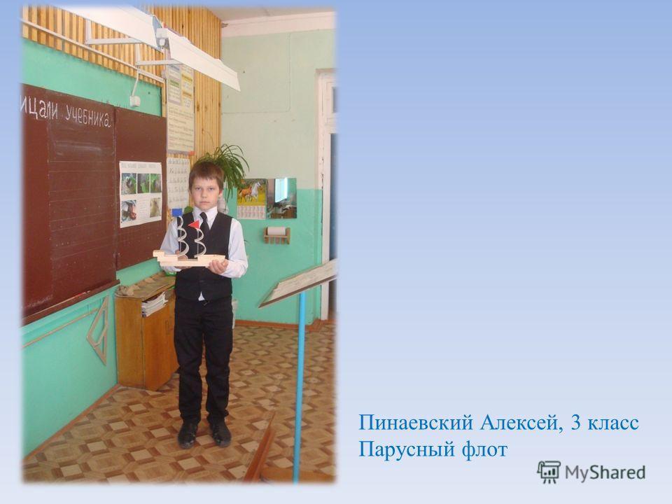 Пинаевский Алексей, 3 класс Парусный флот