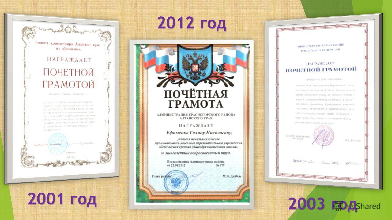 2003 год 2001 год 2012 год