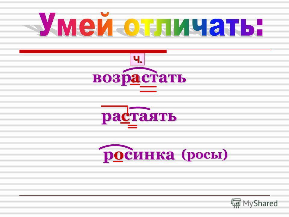 возрастатьрастаятьросинка Ч. а с о (росы)