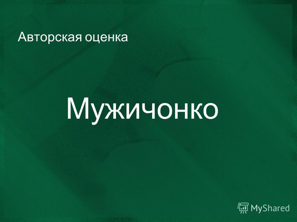 Авторская оценка Мужичонко