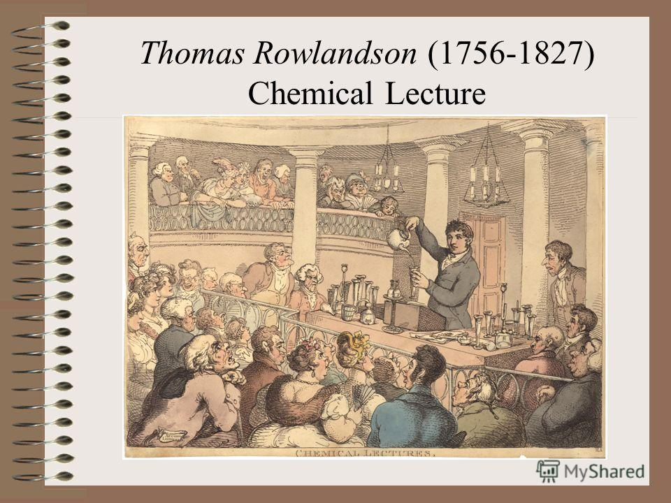 Thomas Rowlandson (1756-1827) Chemical Lecture